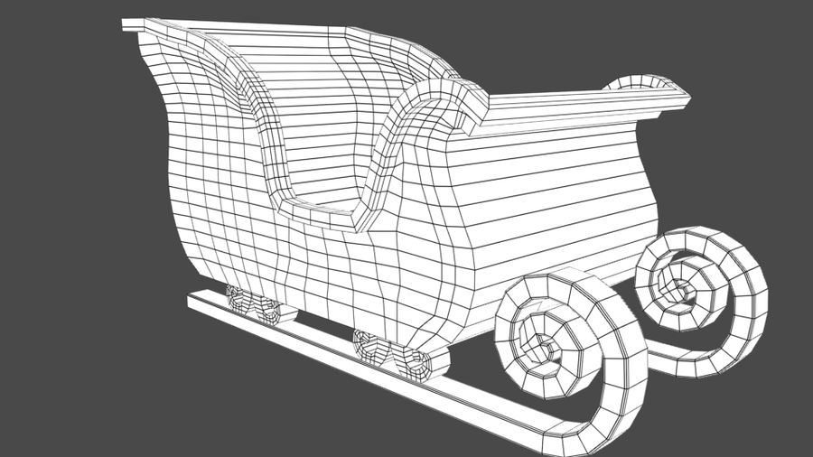 サンタのそり royalty-free 3d model - Preview no. 7