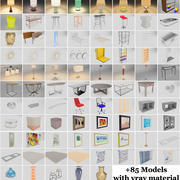 Mobilya Paketi +85 Modelleri 3d model