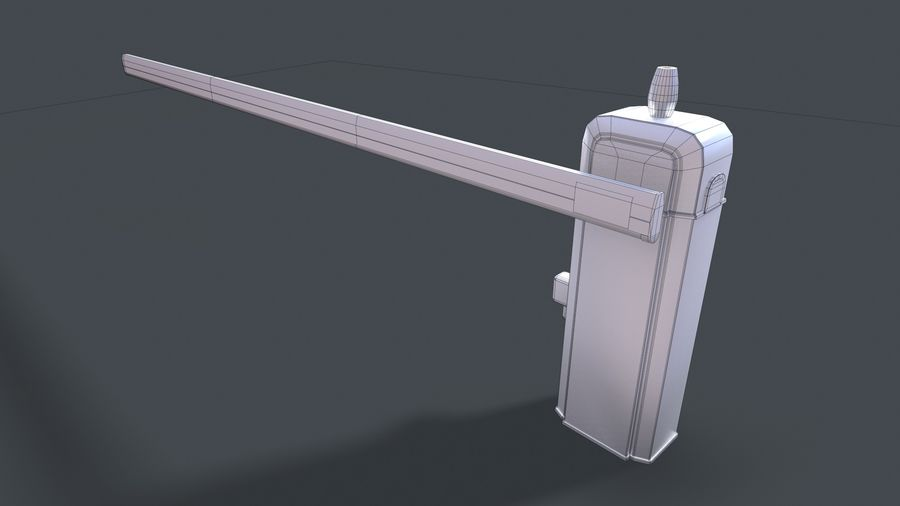 Barriere royalty-free 3d model - Preview no. 7
