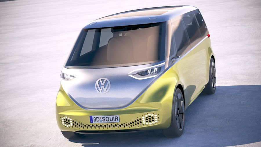 Volkswagen ID Buzz 2020 royalty-free 3d model - Preview no. 2