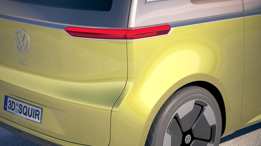 Volkswagen ID Buzz 2020 royalty-free 3d model - Preview no. 4