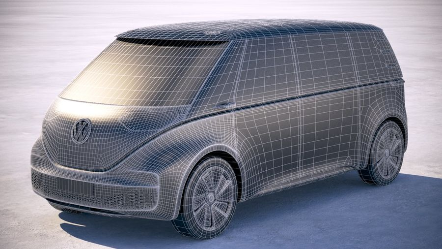 Volkswagen ID Buzz 2020 royalty-free 3d model - Preview no. 27