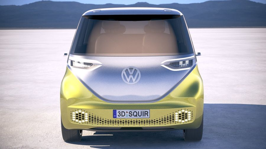 Volkswagen ID Buzz 2020 royalty-free 3d model - Preview no. 10