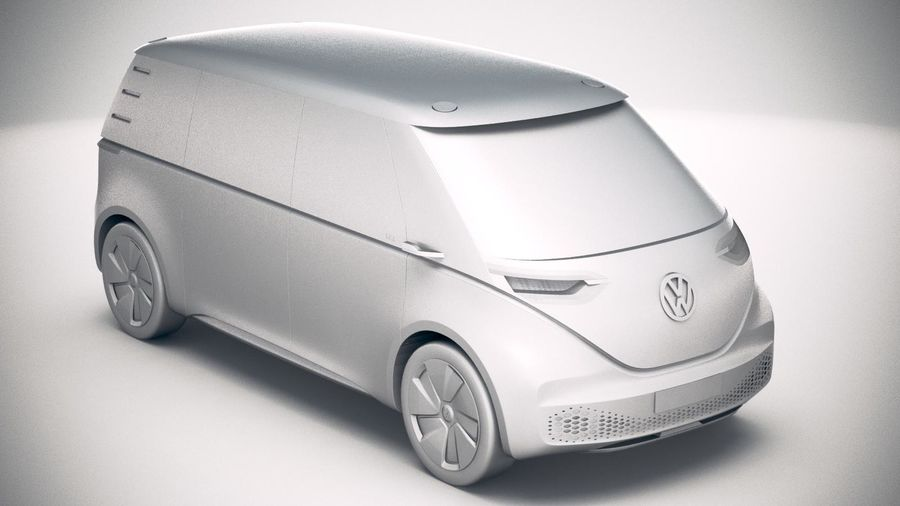 Volkswagen ID Buzz 2020 royalty-free 3d model - Preview no. 22