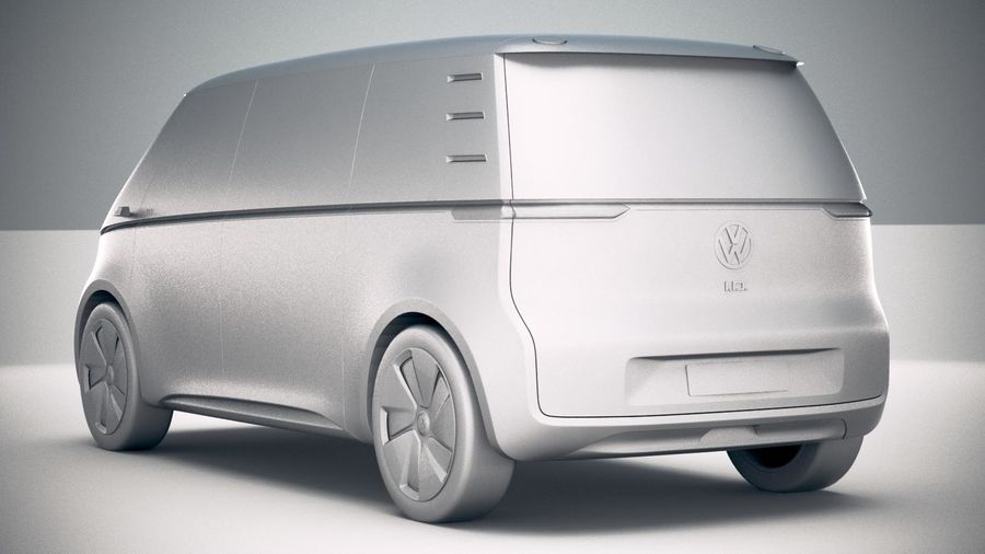 Volkswagen ID Buzz 2020 royalty-free 3d model - Preview no. 24
