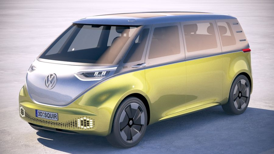 Volkswagen ID Buzz 2020 royalty-free 3d model - Preview no. 1