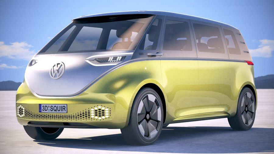 Volkswagen ID Buzz 2020 royalty-free 3d model - Preview no. 13