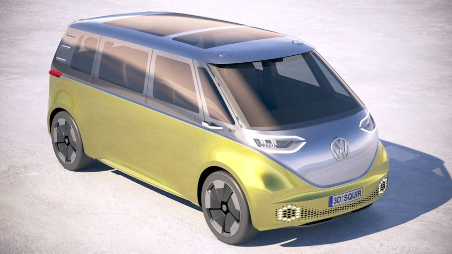 Volkswagen ID Buzz 2020 royalty-free 3d model - Preview no. 12