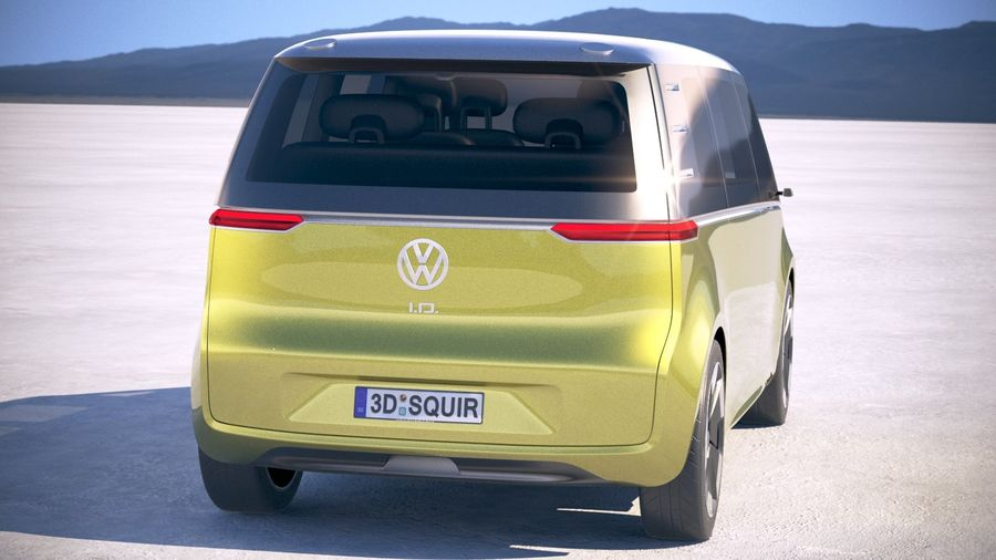Volkswagen ID Buzz 2020 royalty-free 3d model - Preview no. 6