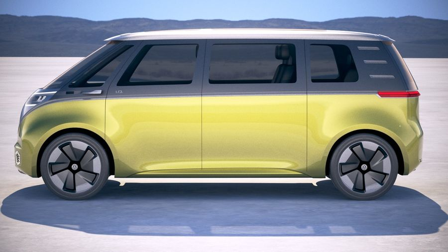 Volkswagen ID Buzz 2020 royalty-free 3d model - Preview no. 7