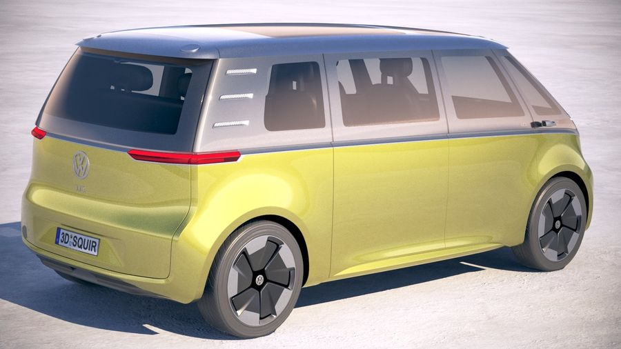Volkswagen ID Buzz 2020 royalty-free 3d model - Preview no. 5