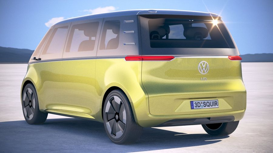 Volkswagen ID Buzz 2020 royalty-free 3d model - Preview no. 14