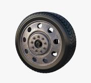 Old Truck Wheel 3d model