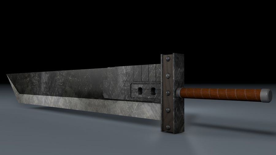Buster Sword FF7 royalty-free 3d model - Preview no. 1