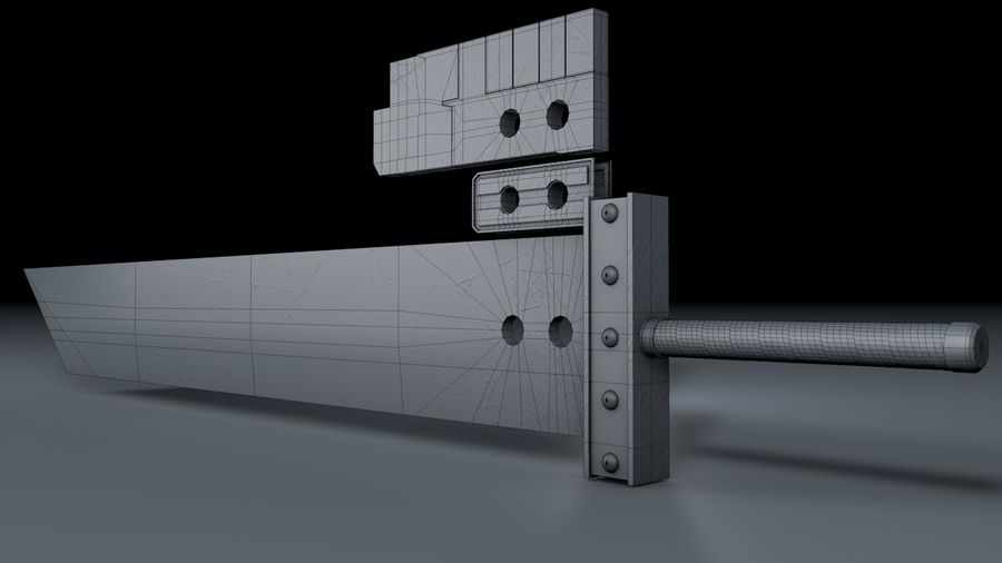 Buster Sword FF7 royalty-free 3d model - Preview no. 2