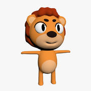 Personagem de desenho animado leão 3d model