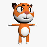 Cartoon Tiger Character 3d model