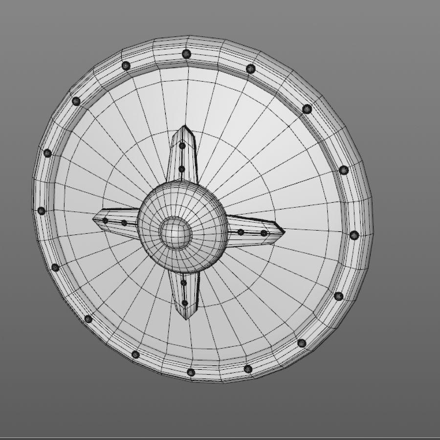 만화 방패 royalty-free 3d model - Preview no. 11