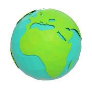 Мультяшный мир земли 3d model