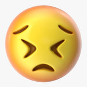 Emoji 30 Volhardend gezicht 3d model