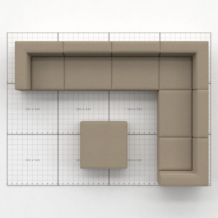 Divino Lounge - Spa Launge - Premium Garden Furniture royalty-free 3d model - Preview no. 2
