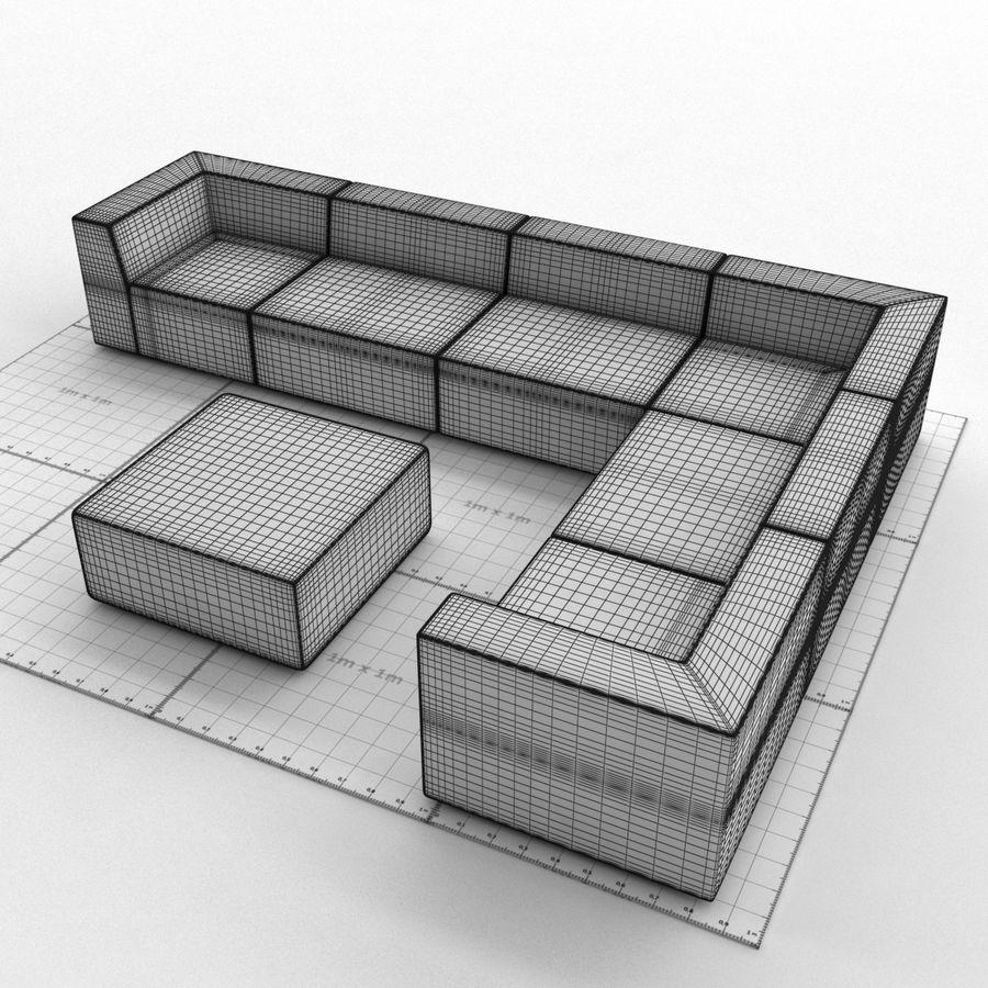 Divino Lounge - Spa Launge - Premium Garden Furniture royalty-free 3d model - Preview no. 6