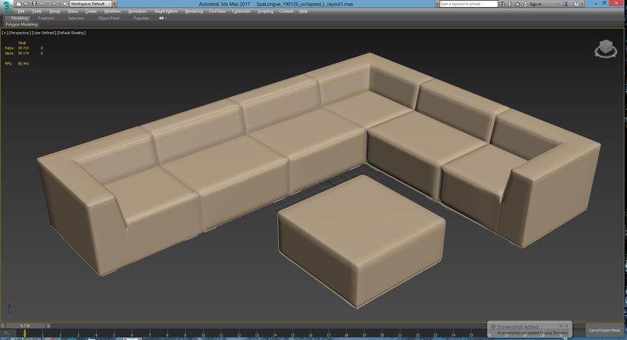 Divino Lounge - Spa Launge - Premium Garden Furniture royalty-free 3d model - Preview no. 12