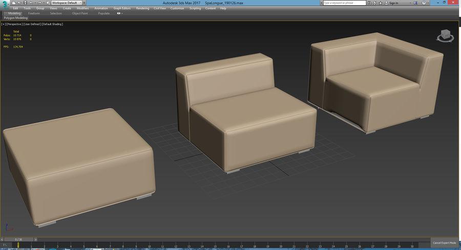 Divino Lounge - Spa Launge - Premium Garden Furniture royalty-free 3d model - Preview no. 15