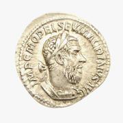 Srebrna moneta rzymska 3d model