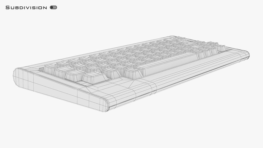 Keyboard v 1 royalty-free 3d model - Preview no. 23