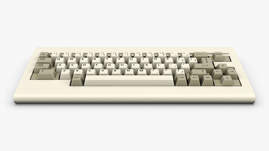 Keyboard v 1 royalty-free 3d model - Preview no. 9