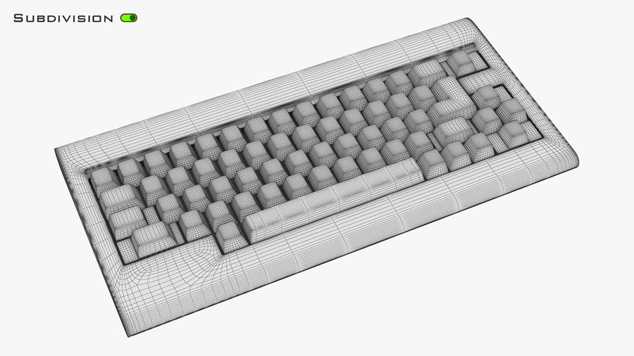 Keyboard v 1 royalty-free 3d model - Preview no. 16