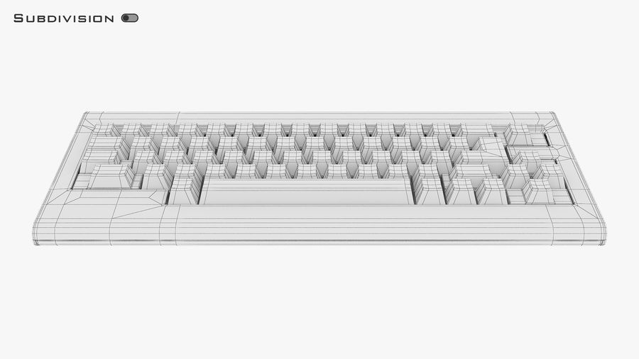 Keyboard v 1 royalty-free 3d model - Preview no. 29