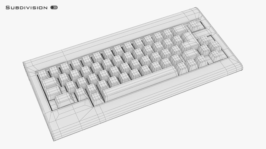 Keyboard v 1 royalty-free 3d model - Preview no. 17