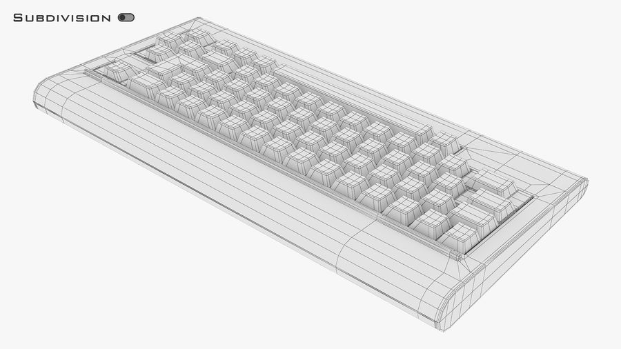 Keyboard v 1 royalty-free 3d model - Preview no. 15