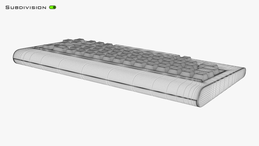 Keyboard v 1 royalty-free 3d model - Preview no. 26