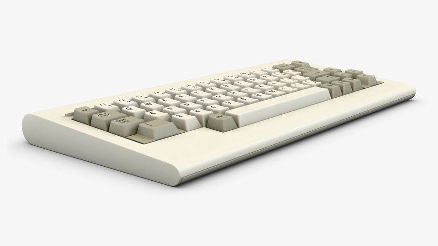 Keyboard v 1 royalty-free 3d model - Preview no. 6