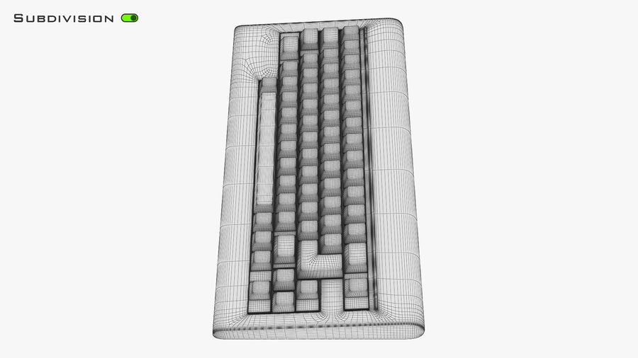 Keyboard v 1 royalty-free 3d model - Preview no. 24