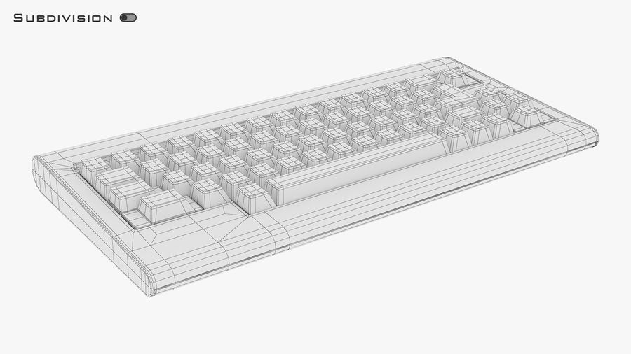 Keyboard v 1 royalty-free 3d model - Preview no. 21