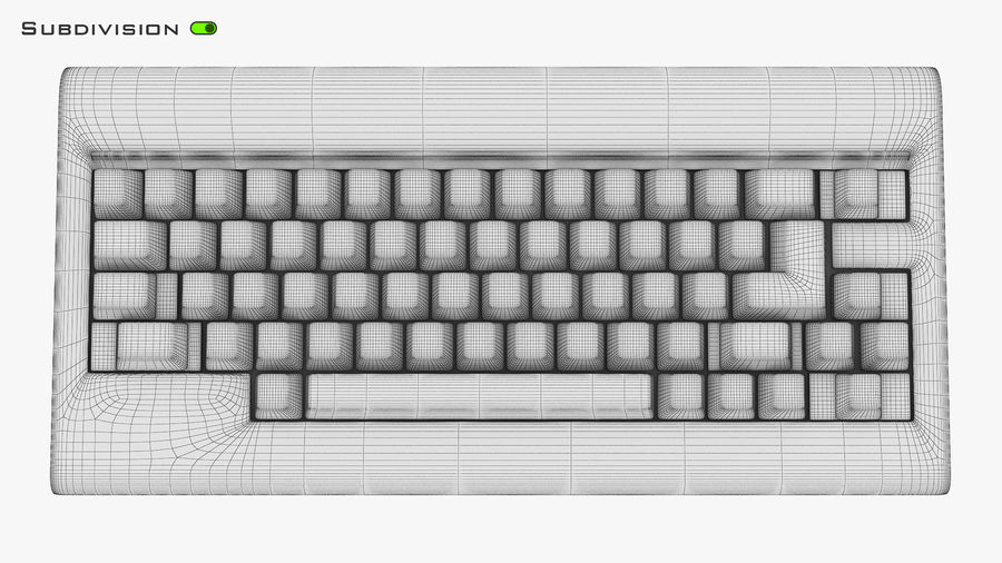 Keyboard v 1 royalty-free 3d model - Preview no. 30