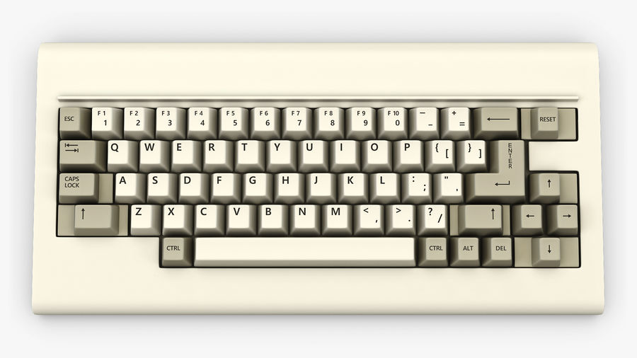 Keyboard v 1 royalty-free 3d model - Preview no. 10