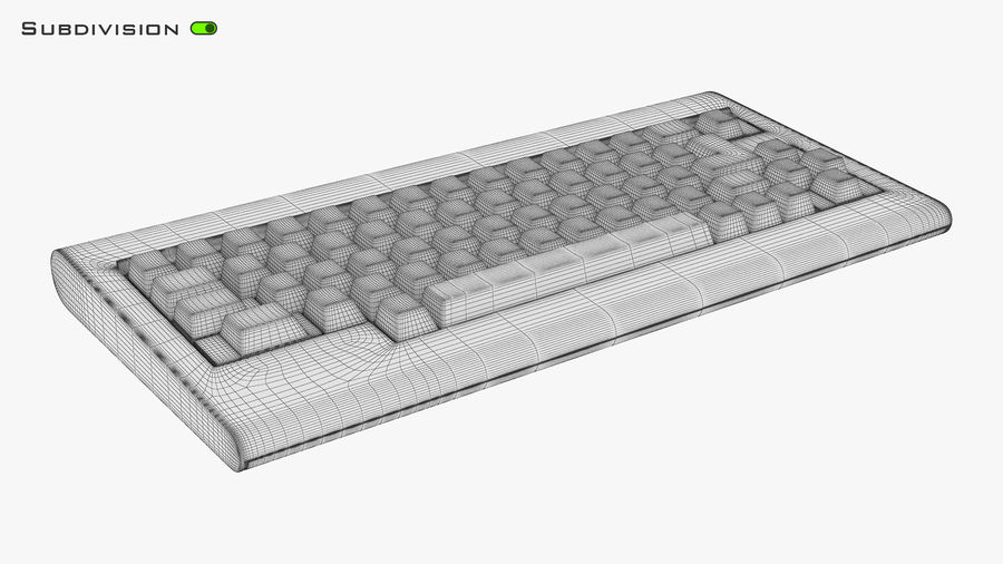 Keyboard v 1 royalty-free 3d model - Preview no. 20