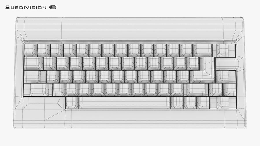 Keyboard v 1 royalty-free 3d model - Preview no. 31