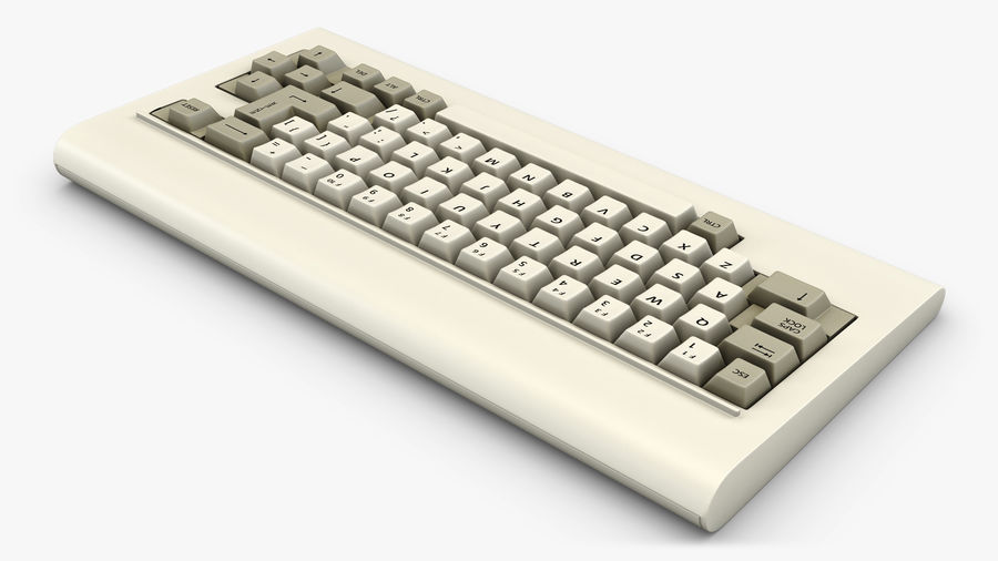 Keyboard v 1 royalty-free 3d model - Preview no. 2