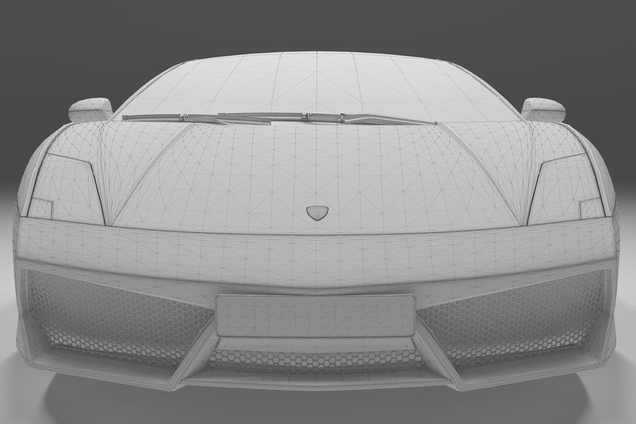 Lamborghini Gallardo royalty-free 3d model - Preview no. 32