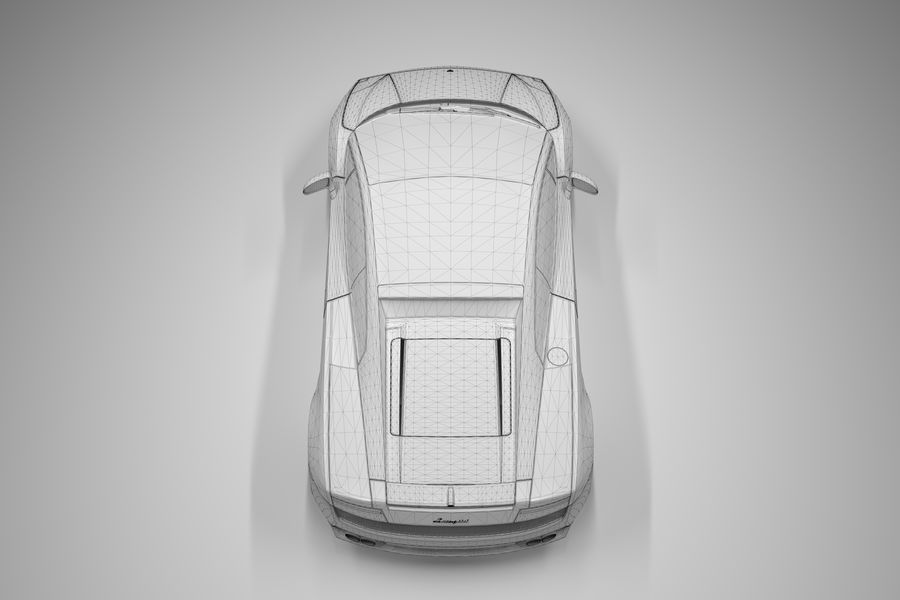 Lamborghini Gallardo royalty-free 3d model - Preview no. 27