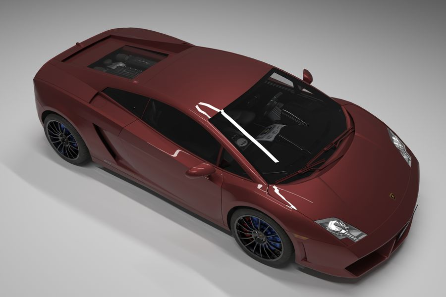 Lamborghini Gallardo royalty-free 3d model - Preview no. 11