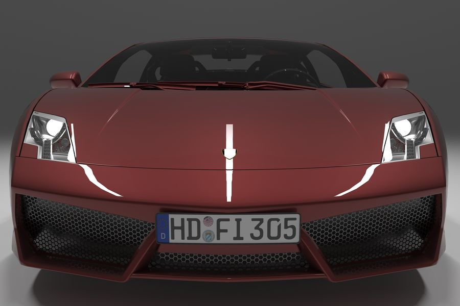 Lamborghini Gallardo royalty-free 3d model - Preview no. 14