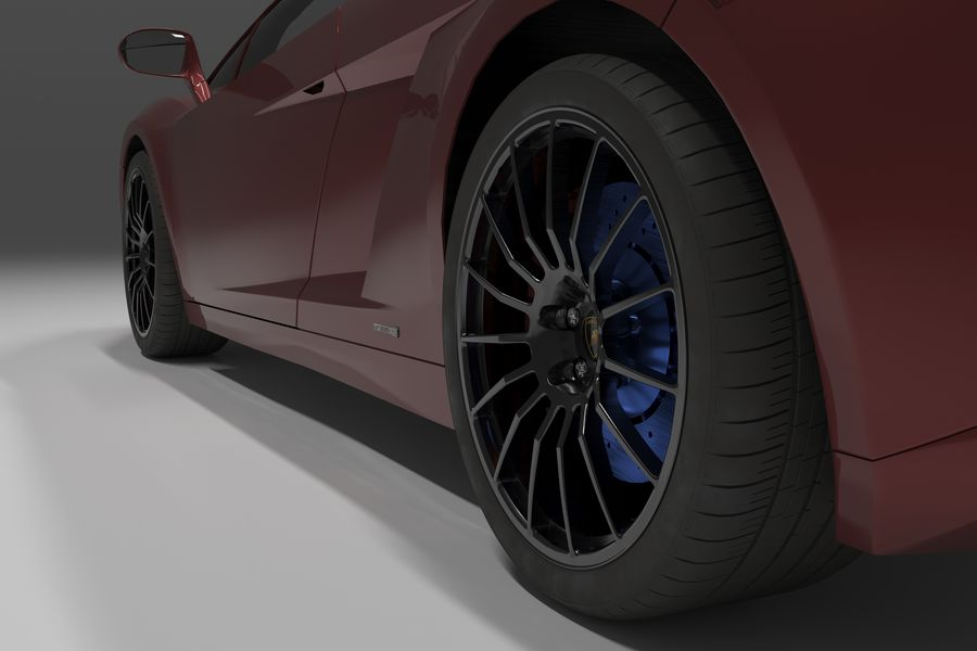Lamborghini Gallardo royalty-free 3d model - Preview no. 17