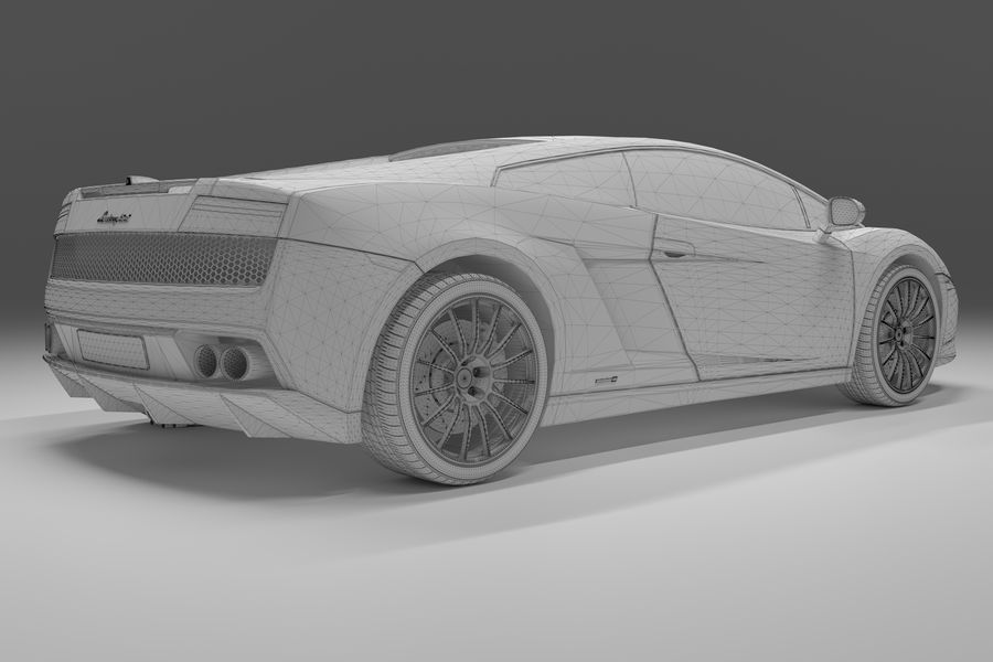 Lamborghini Gallardo royalty-free 3d model - Preview no. 20